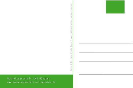 LMU Buchwissenschaft Postkarte